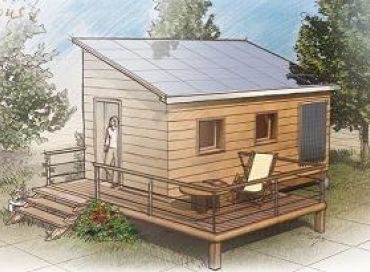 Rénovation de la cabane, les panneaux solaires seront installés pour le 15 mars.